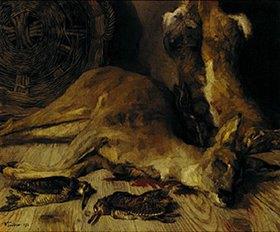 Wilhelm Trübner: Reh, Hasen und Schnepfen