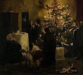 Fritz Schider: Weihnachtsfeier in der Familie Kirchendorffer-Leibl