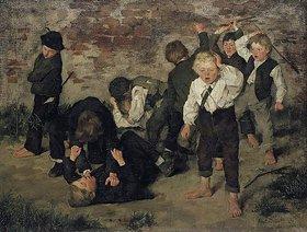 Wilhelm Trübner: Balgende Buben