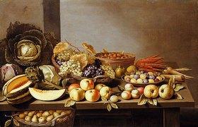 Floris Gerritsz. van Schooten: Stillleben mit Obst und Gemüse