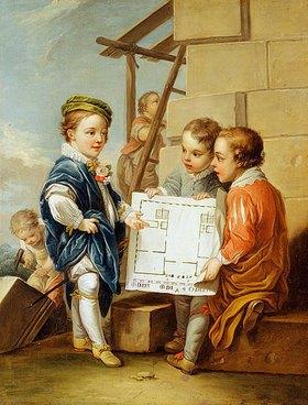 Charles André van Loo: Die vier Künste - die Architektur. (siehe auch Bildnummern 42269-42271)