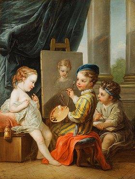 Charles André van Loo: Die vier Künste - die Malerei. (siehe auch Bildnummern 42268, 42270 und 42271)