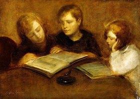 Eugène Carrière: Lesende Mädchen