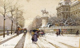 Eugene Galien-Laloue: Paris im Winter