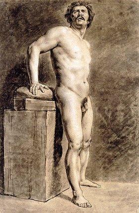 Eugene Delacroix: Stehender männlicher Akt