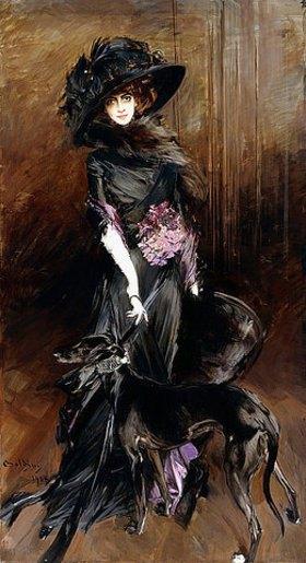 Giovanni Boldini: Porträt der Marchesa Luisa Casati mit einem Windhund
