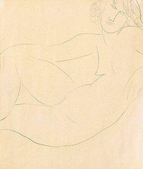 Amadeo Modigliani: Sich zurücklehnender weiblicher Akt (Femme Nue Accoudée)