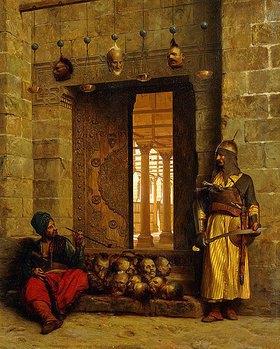 Jean-Léon Gérome: Die Köpfe der hingerichteten Rebellen am Eingang der Moschee El Assaneyn