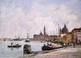 Eugène Boudin: Der Kai von Giudecca, Venedig