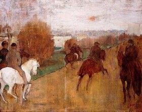 Edgar Degas: Reiter auf einer Landstraße (Cavaliers sur une Route)