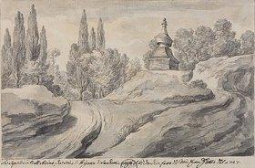 Pier Leone Ghezzi: Das Grab des Esels bei der Villa Pigneto