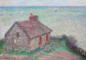 Claude Monet: La maison du Douanier, effet rose