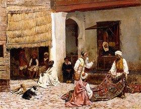 Edwin Lord Weeks: Ein Teppich-Basar in Tanger