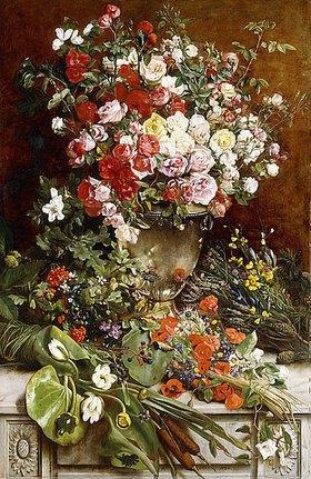 Charles Verlat: Hommage an die Königin der Blumen (Hommage à la Reine des Fleurs)