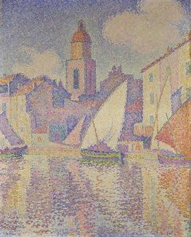 Paul Signac: Glockenturm am Hafen von St. Tropez