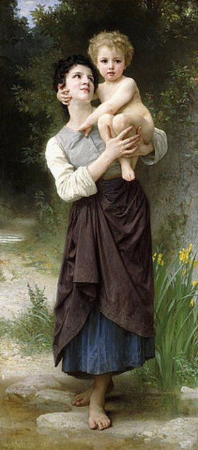 William Adolphe Bouguereau: Bruder und Schwester (Frère et s?ur)