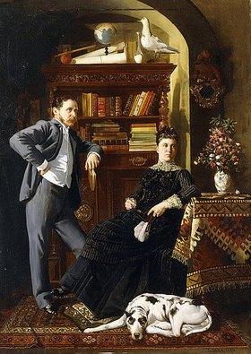 Leopold Bara: Ein Ehepaar mit ihrem Hund