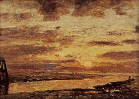 Eugène Boudin: Sonnenuntergang über dem Meer bei Trouville