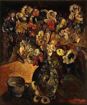 Fritz van den Berghe: Stillleben mit Blumen und einer Tasse. / Stilleven met Bloemen en Kop