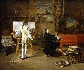 Lucien Alphonse Gros: Giovanni Battista Pergolesi im Atelier von Joseph Vernet