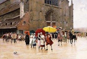 Charles Edouard Delort: Nach dem Gottesdienst