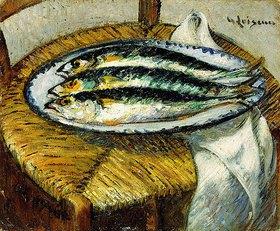 Gustave Loiseau: Ein Teller mit Makrelen (Le Plat de Maquereaux)