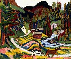 Ernst Ludwig Kirchner: Landschaft im Frühling, Sertig