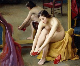 William McGregor Paxton: Die roten Pantoletten