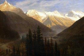 Albert Bierstadt: Sonnenaufgang über dem Gletscher