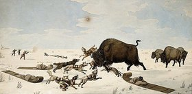 Peter Rindisbacher: Büffeljagd