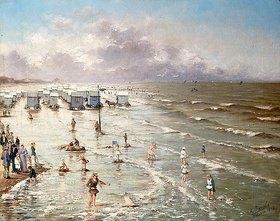 Adolphe Jacobs: Der Strand in Ostende