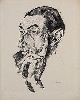 Heinrich Nauen: Portrait Alfred Flechtheim