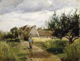 Camille Pissarro: Dorfeingang (Entrée d'un Village)