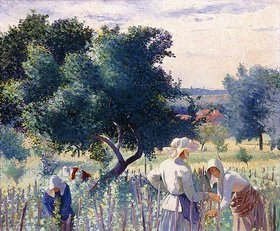 Henri Edmond Cross: Frauen biem Binden der Weinreben