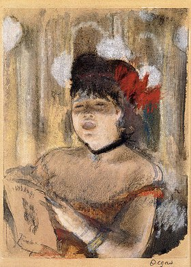 Edgar Degas: Mademoiselle Dumay, Sängerin