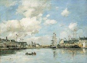 Eugène Boudin: Fécamp, das Hafenbecken