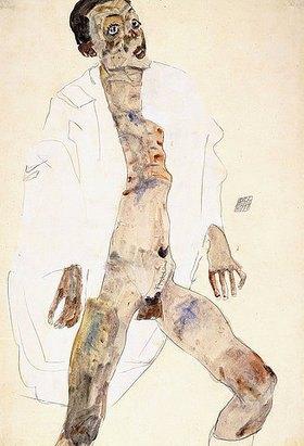 Egon Schiele: Stehender Mann (Selbstbildnis)