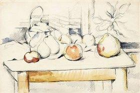 Paul Cézanne: Ingwertopf und Früchte auf einem Tisch (Pot de gingembre et fruits sur une table)