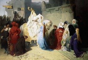 Emil Johann Lauffer: Merlin präsentiert König Arthur die Zukunft
