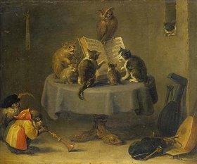 David Teniers: Katzen- und Affenkonzert