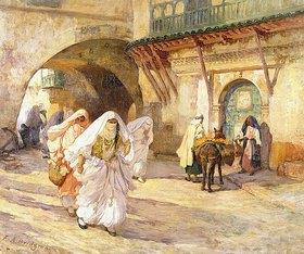 Frederick Arthur Bridgman: Araberinnen auf einer Straße