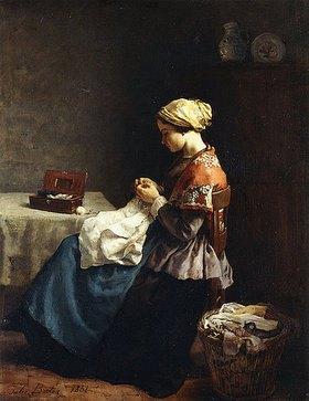 Jules Breton: Die kleine Schneiderin