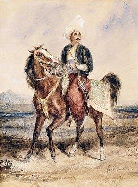 Eugene Delacroix: Ein arabischer Krieger zu Pferde