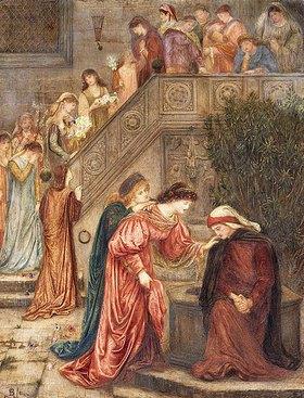 Marie Stillman: 'Einige Damen aus ihrer Bekanntschaft besuchten Beatrice, als sie sich in ihrer Trauer zurückgezogen hatte, und als sie kamen und gingen, hörte ich sie über sie reden' (Dante in Vita Nuova)