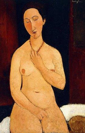 Amadeo Modigliani: Sitzender Akt mit Halskette