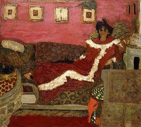 Edouard Vuillard: Porträt von Mme Delierre, Symphonie in rot (Portrait de Mme Delierre, Symphonie en Rouge)