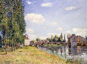 Alfred Sisley: Die Brücke von Moret im Sommer