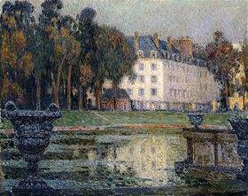 Henri Le Sidaner: Der Neptunbrunnen in der Abenddämmerung