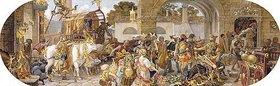 Riccardo Meacci: Ein florentinisches Fest: Ankunft der Vorräte (aus einer Folge von 6 Werken, siehe auch Bildnummern 42741-42743,42745+42746)