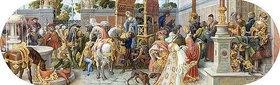 Riccardo Meacci: Ein florentinisches Fest: Die Ankunft der Gäste (aus einer Folge von 6 Werken, siehe auch Bildnummern 42741-42745)